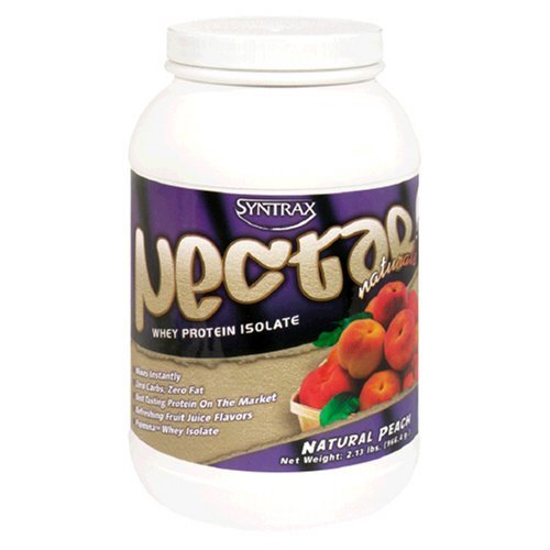 Syntrax Nectar Naturals (SynTrax Nectar Naturals Whey Protein Isolate, Natural Peach , 2 lbs (32 OZ) by Syntrax)