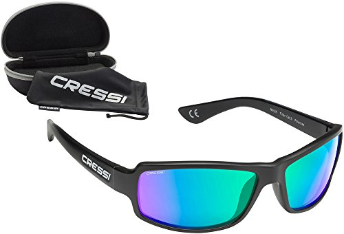 Lentes Cressi Sol XDB100011 Unisex Talla Negro Espejados Gafas de Adulto Única Verde rqr0t
