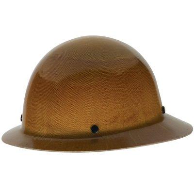MSA Tan Skullgard Hard Hat with Staz-On Suspension and Full Brim 454664 by MSA