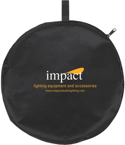 52, Gold//White Impact Circular Collapsible Reflector with Handles
