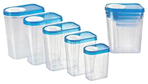 Haushaltsdose Gewürzdosen Schüttdosen Streudosen Vorratsdosen 10er Set 0,25 bis 1,5l blau