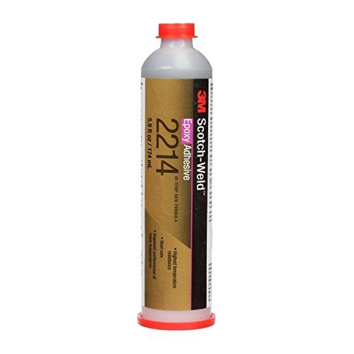 - 3M Scotch-Weld 20833 Epoxy Adhesive 2214 Hi-Temp New Formula, Gray, 6 fl. oz.