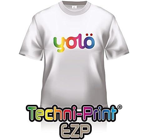 yolö creative 10 x hojas a3 de la transferencia de techni-print® ezp láser térmico del papel/camiseta transferencias: Amazon.es: Oficina y papelería