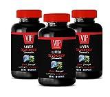 Liver Detox Supplements - Liver DETOXIFIER Formula - Supports Liver Health - lipase enzymes for Digestion - 3 Bottles 180 Capsules