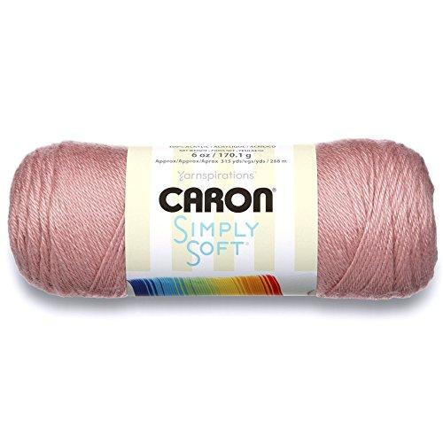Caron Simply Soft Solids Yarn (4) Medium Gauge 100% Acrylic - 6 oz -  Victorian Rose  -  Machine Wash & Dry