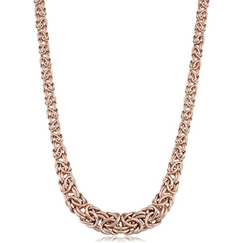 14k Rose Gold Graduated Byzantine Necklace, - Byzantine Graduated Necklace