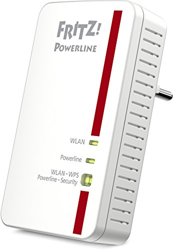 AVM FRITZ! Powerline 1240E WLAN Adapter (1.200 MBit/s, WLAN-Access Point, ideal für Media-Streaming oder NAS-Anbindungen)