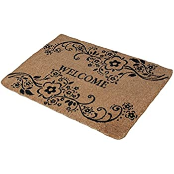 Amazon Com A1 Home Collections Large Floral Coir Welcome