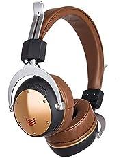 Auleset MH6 Vikbar Trådlös Bluetooth Utomhus Hörlurar FM-Radio Bas Stereo Headset - Kamel