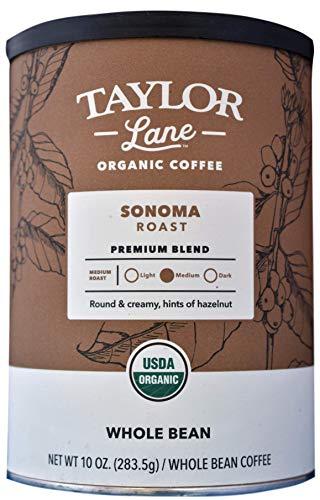 (TAYLOR LANE Organic Coffee, Whole Bean, 10 Ounce (Sonoma Roast))