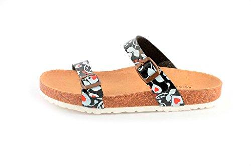 Le Clare Damen Pantoffeln