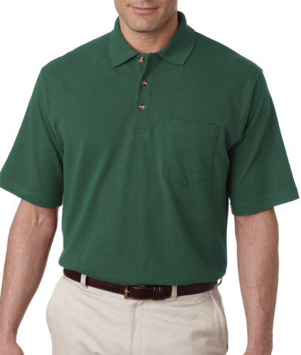 UltraClub Mens Classic Pique Polo Short Sleeve Shirt with Pocket