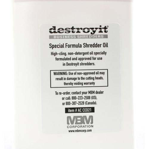 MBM DestroyIt Shredder Oil - 1 Quart Bottle (6pk) [Electronics] [Electronics]