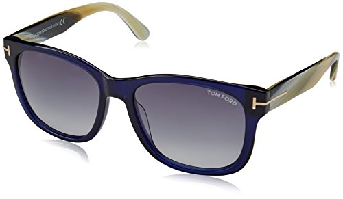 Tom Ford FT0395/S 89W Cooper Navy Blue Rectangle - Ford Celebrity Sunglasses Tom