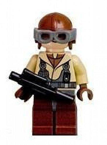 Naboo Fighter (Naboo Fighter Pilot - LEGO Star Wars Figure with Blaster)