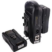 Sunwin 2X Camera V-mount Lock Li-ion Battery 130Wh RL-130S+RL-2KS Portable Dual Charger