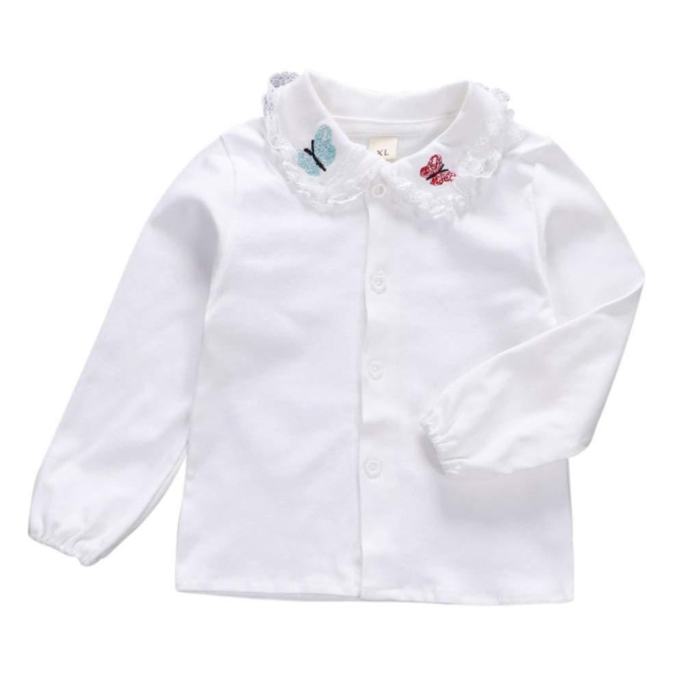 Urmagic Baby Girl Blouse, Toddler Infant Babies Cotton Long Sleeve Butterfly T-Shirt Tops Kids Girl Shirt 6M-3Y