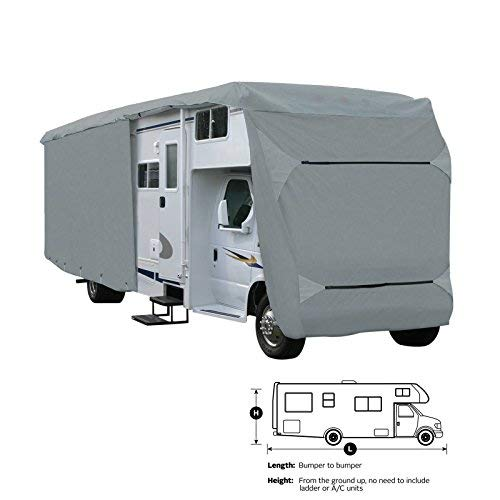 SavvyCraft Class C RV Motorhome Camper Cover Fits 24' 25' 26'L Zipper Access