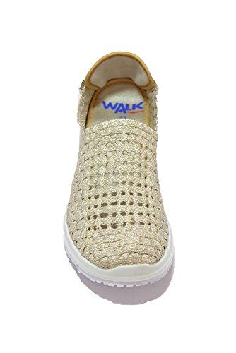 Melluso Slip on zeppa platino scarpe donna Walk 05921