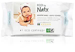 Naty by Nature Babycare Eco Baby Wipes, Lightly Scented, 12 packs of 56 (672 wipes)