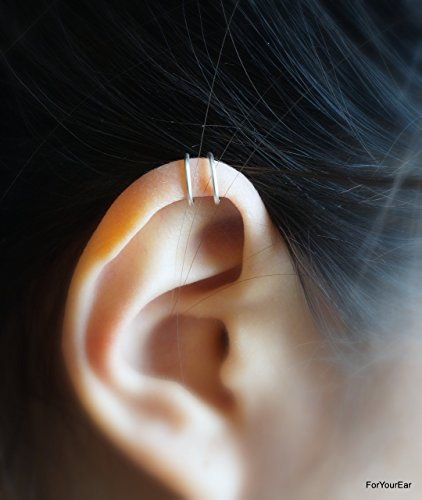 123) Tiny Double Lines Ear Cuff For Upper (Double Ear Cuff)
