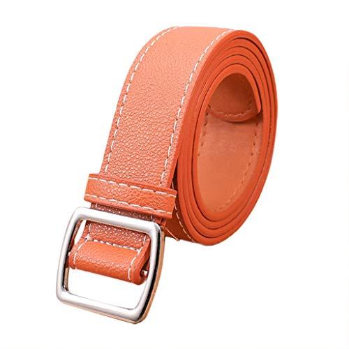 Women Leather Belt Simple Vintage Casual Canvas Belt Buckle Letters Belt Men Waistband Leisure Belt