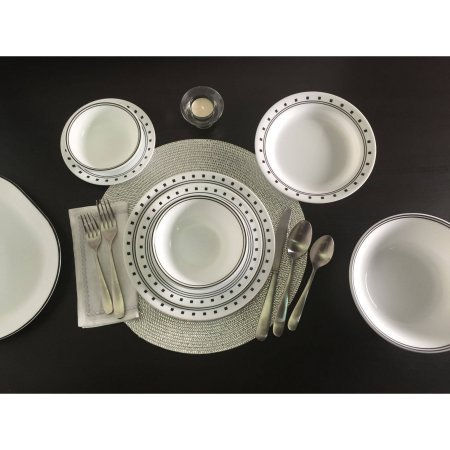 Corelle Livingware City Block 32-Piece Dinnerware Value Bundle (Corelle Bone compare prices)