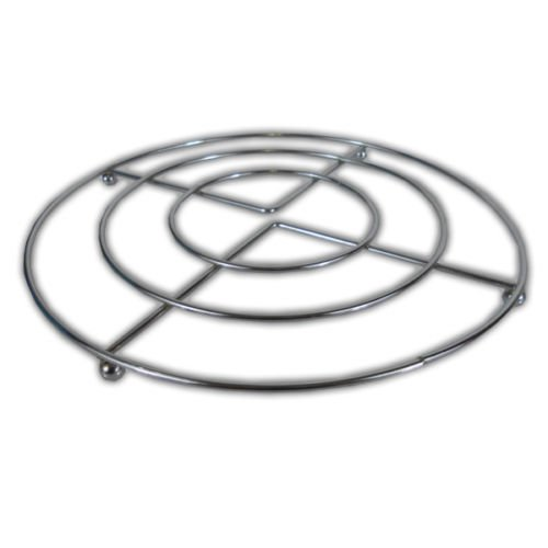 20cm Chrome PAN STAND -Trivet Metal Wire Frame Pot Holder, For Pans, Casserole Dishes & Ovenware INCLUDES 'Smiley Face' Magnet HKM