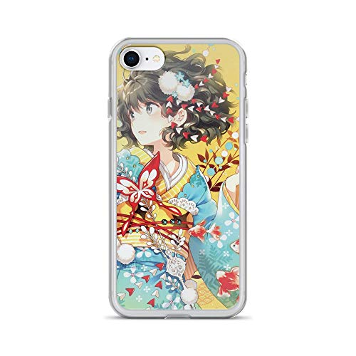 iPhone 7/8 Pure Clear Case Cases Cover Anime Girl Kimono Fish Art Butterfly