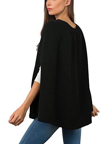 Italy in Cashmere - Poncho - para mujer negro