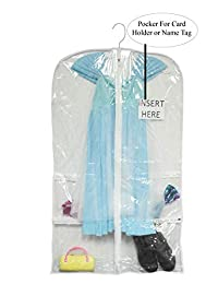 Clear Plastic Garment Bags for Costumes or Dance Dresses (Singles)