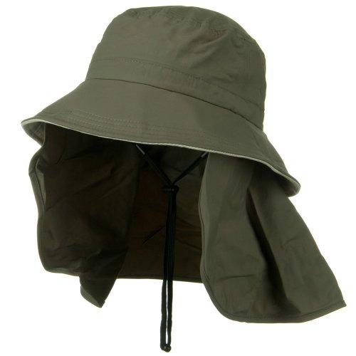 Juniper UV 50+ Talson Removable Flap UV Bucket Hat - Olive