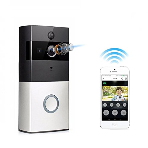 TIVDIO ZC-IP08 Video Doorbell Wireless Doorbell Camera 720P HD Wi-Fi Security Camera with 1 Indoor Chime Built-in 8G Card, App Control for IOS and Android by TIVDIO (Image #1)