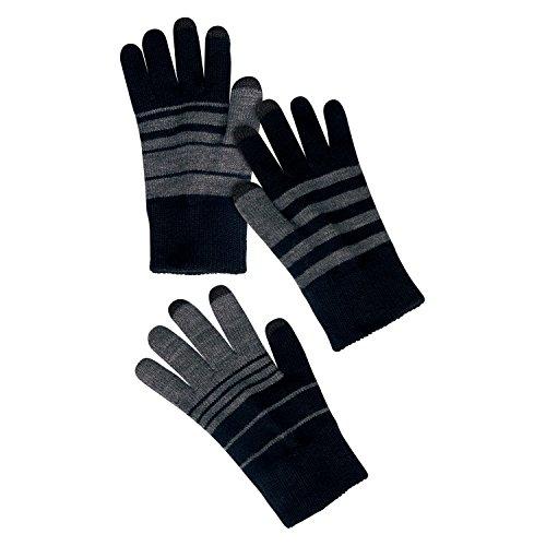 Verloop Trio Touchscreen Gloves / Texting Gloves Warm Knitted - Black/Gray