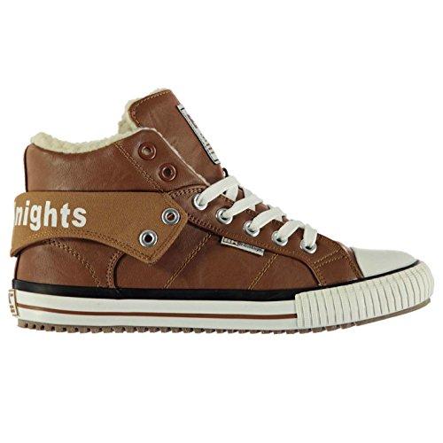 British Knights ROCO Fell Hi Casual Turnschuhe Herren cognac Schuhe Turnschuhe Sneakers