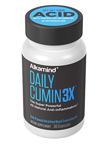 Alkamind Daily Cumin3x – Black Cumin Seed Oil – Super Powerful All-Natural Anti-Inflammatory – Cold-Pressed Pure Black Cumin Seed Oil