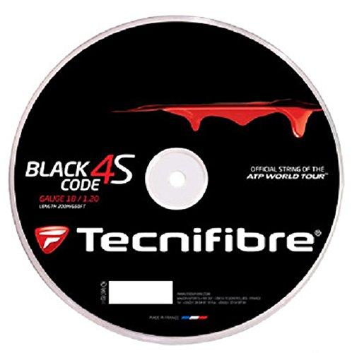 (Tecnifibre Black Code 4S 1.30mm (16 Gauge) Tennis String 200 Meter Reel )