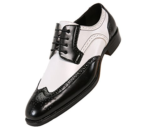 Bolano Elwyn, Mens Shoes - Mens Dress Shoes - Oxford Shoes for Men - Wingtip Shoes Men - Formal Shoes, Spectator Two-Tone, Lace up, Brogue, Dress Shoes for Men