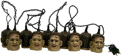 Decorative Light Set The Texas Chainsaw Massacre Leatherface Head Lites