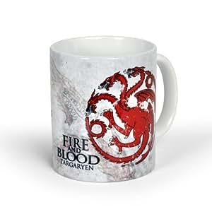 Juego de tronos: Taza Casa Targaryen - Game of Thrones - Fire & Blood