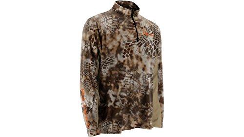 Huk Men's Kryptek Icon 1/4 Zip Shirt, Camo, XX-Large