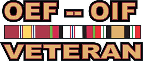MilitaryBest Operations Enduring Freedom (OEF) and Iraqi Freedom (OIF) Veteran Decal 5.5
