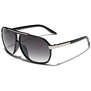 Classic 80s Fashion Aviator Sunglasses Retro Vintage Men's Women's Glasses (Black | Gradient Smoke, 62)