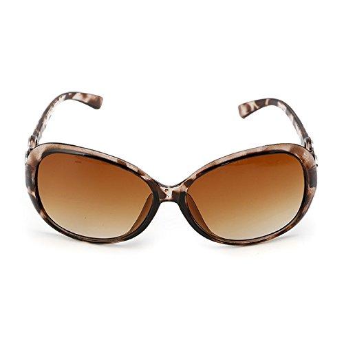 de vintage Lamdoo diseño marrón para Gafas mujer estilo Color sol marrón Bean retro 4wX5qR6r58
