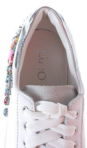 Sneakers Liu Calf Femme Chaussure White Milano Up Leather Metallic Kim08 Lace Jo URqrRPwWI