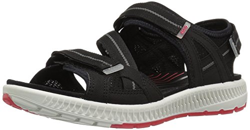 Ecco Womens Terra 3s Sandalo Atletico Nero / Teaberry