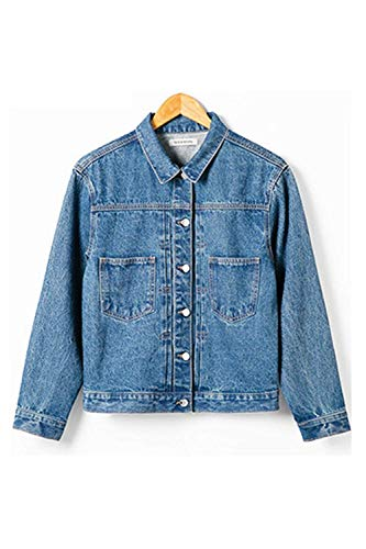 Fidanzato Blu Donna Casual Stile Lunghe Maniche Donne Giacca Casuale Relaxed Cappotto Moda Jacket Eleganti Primaverile Base Jeans Tendenza Autunno Blau Battercake Giacche T0wpx6qE
