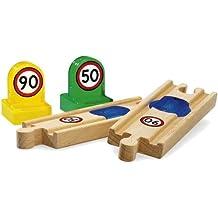 BRIO 33768 Wooden Railway System: Smart Track Change Speed Track