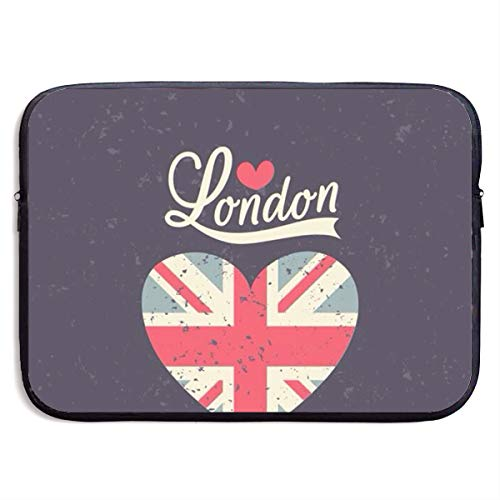 London Quilted Handbag - Love London Heart Flag Laptop Sleeve Case Bag Handbag For Macbook/Notebook/Ultrabook - Lightweight Carring Protector For 13 Inch Samsung Sony ASUS Acer Lenovo Dell HP Toshiba Chromebook Computers