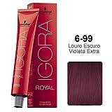 Schwarzkopf Professional Igora Royal Permanent Hair Color, 6-99, Dark Blonde Violet Extra, 60 Gram